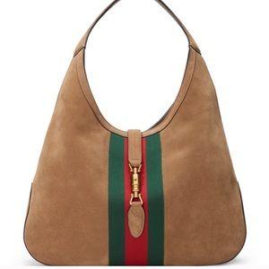 Gucci jackie suede hobo bag